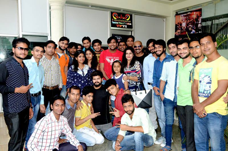 Bigg Boss 2 & Roddies Winner Ashutosh Kaushik with TFTI Students