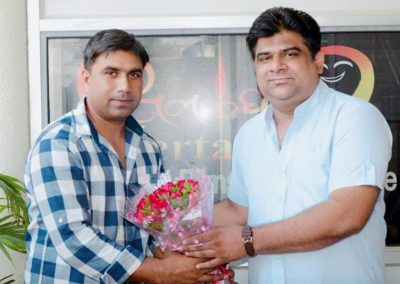 Director Jasbir Bhati with TFTI MD Sachin Pawar