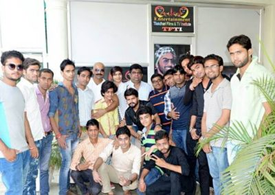 Director Jasbir Bhati with TFTI students