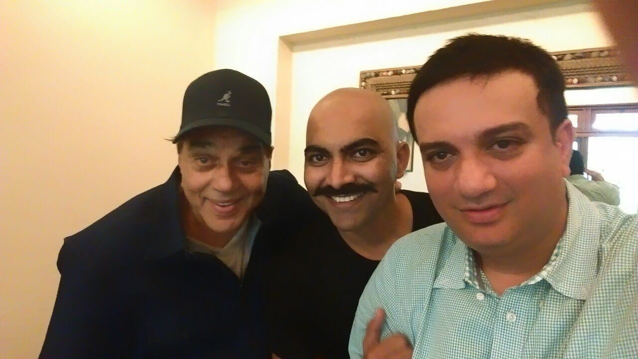 Dharmendra JI with Actor Lokesh Tilakdhari & Ssaket s behal