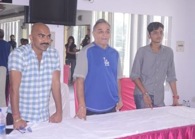Actor Lokesh Tilakdhari with Gurbachan Singh & Amit Singh Amy