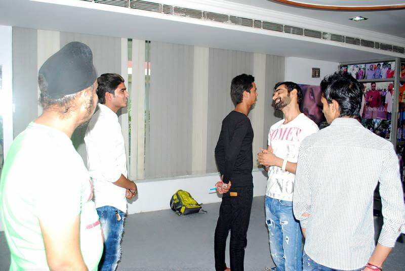 Model & Actor Ravi Janghu taking acting class