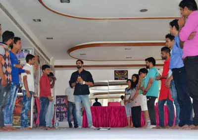 Actor Ravi Janghu With TFTI Students